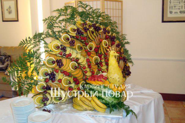 Цветок из фруктов своими руками